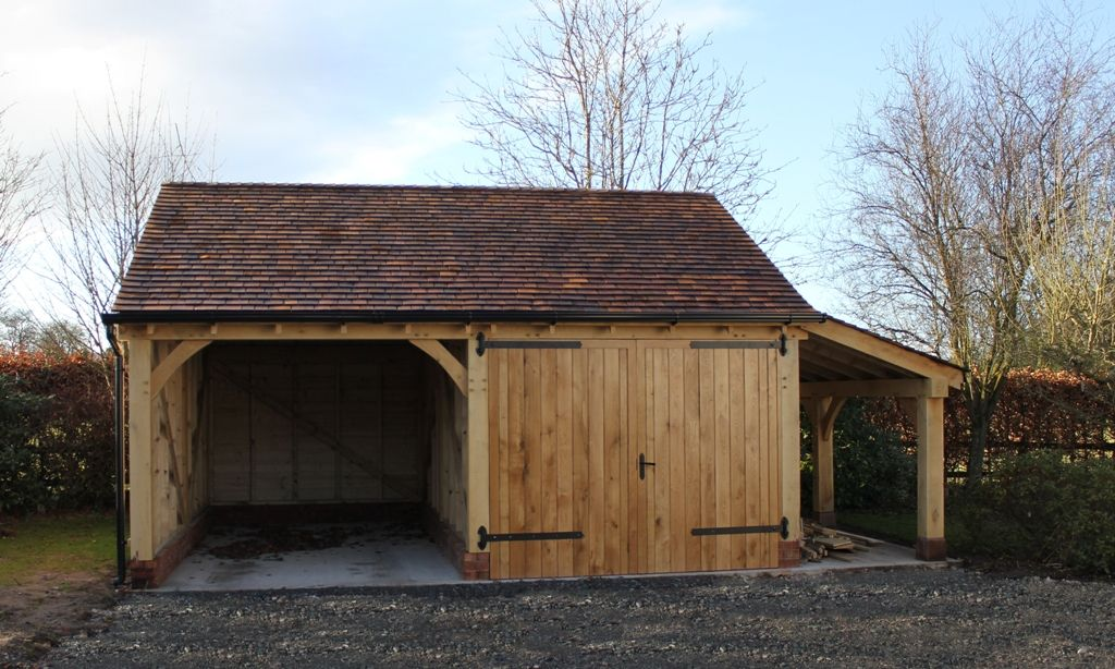 A Lovely Two Bay Garage With Log Store One Bay Enclosed