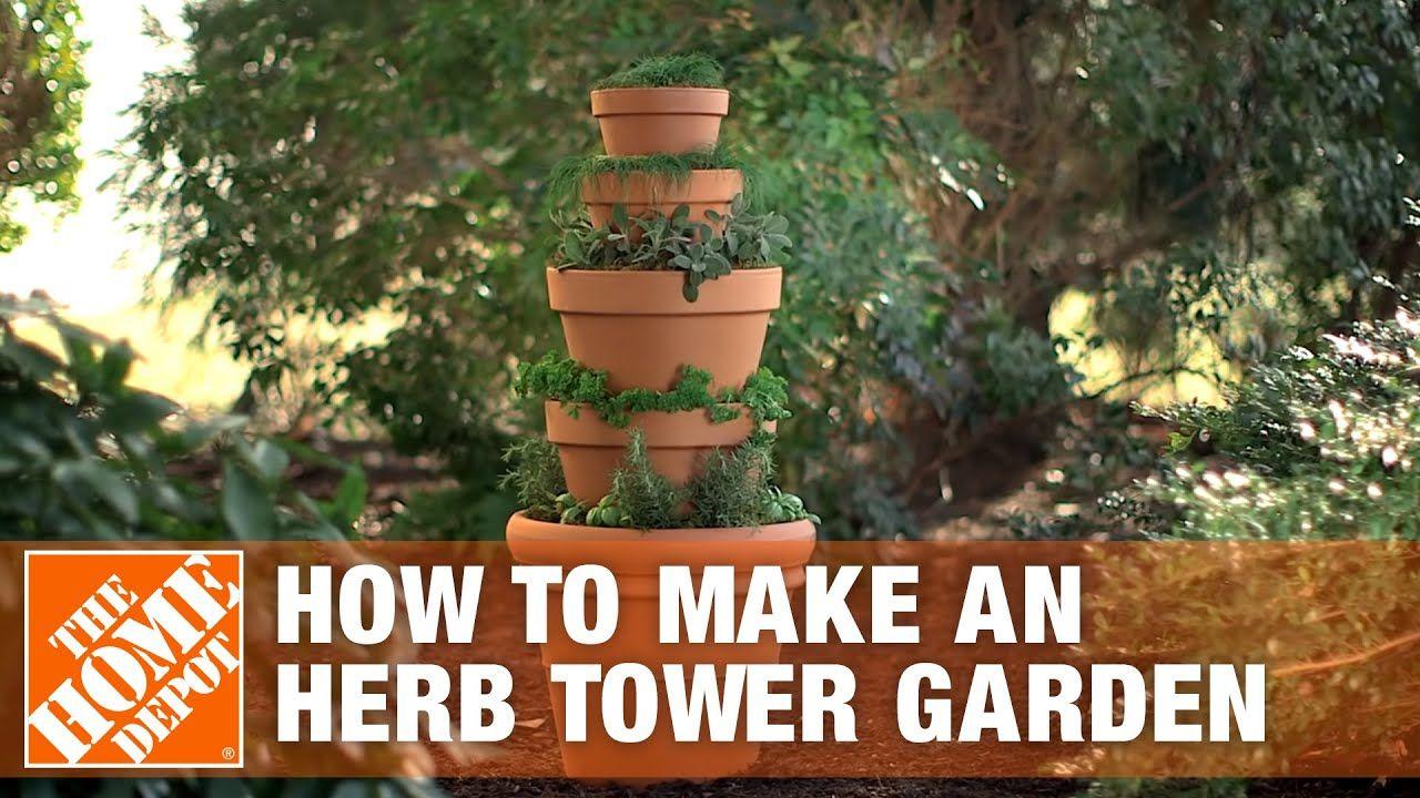 Herb Tower Garden Container Gardening The Home Depot
