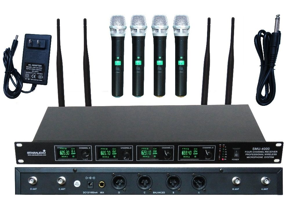 click to buy u003c u003c staraudio 4 channel pro uhf diversity wireless rh pinterest com