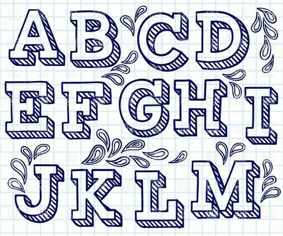 Dise o de letras may sculas en 3d 1ra parte estilos de for Estilos de letras