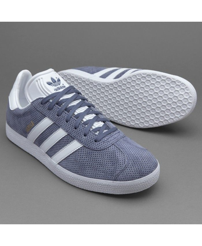 new product 1f8e9 b2a9b Adidas Gazelle Super Purple White Gold Trainers