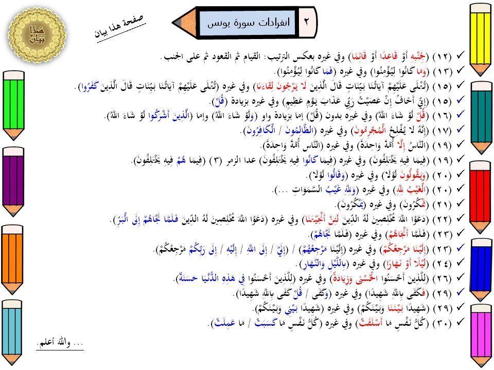 انفرادات سورة يونس ٢ | أحصيناه كتابًا | Puzzle, Words, Word