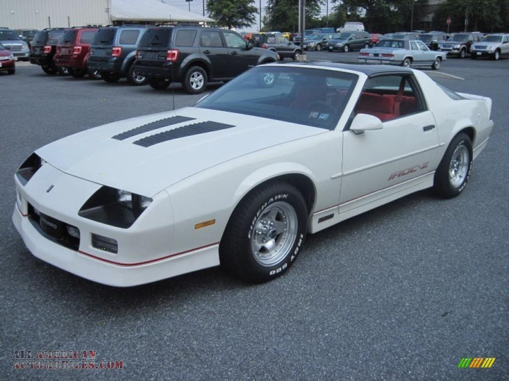 1985 Chevy Camaro Iroc Z White 1989 Chevrolet Camaro Iroc Z