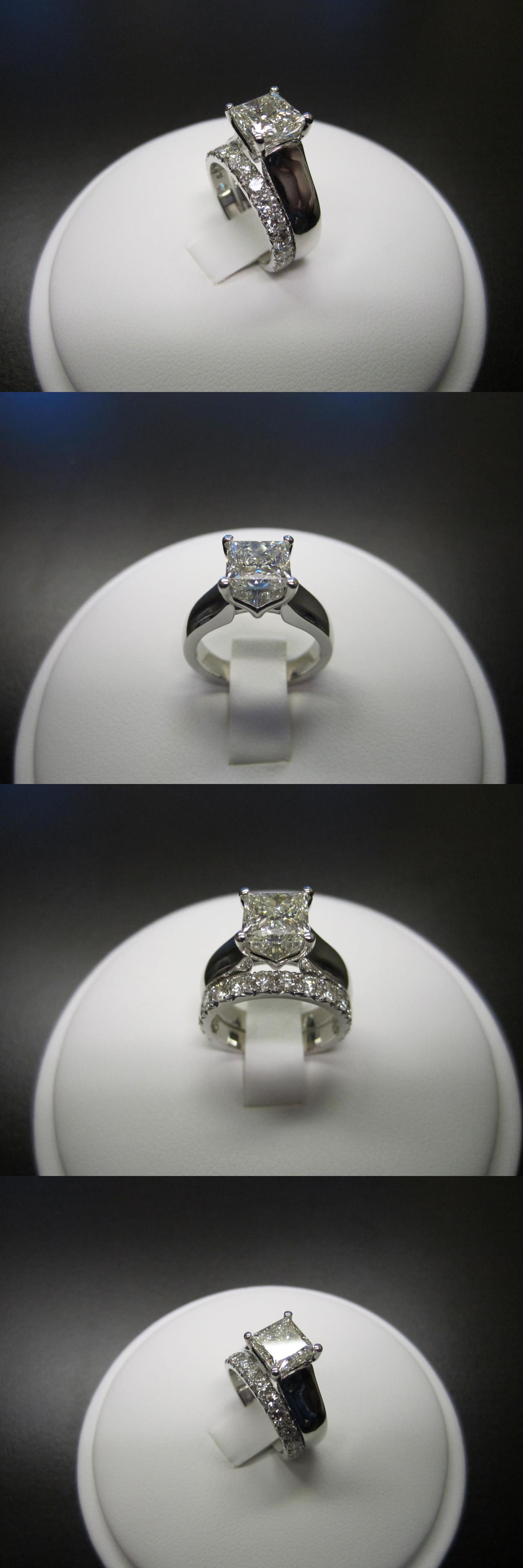 Diamonds and Gemstones Princess Cut Diamond 2Ct Bridal Set