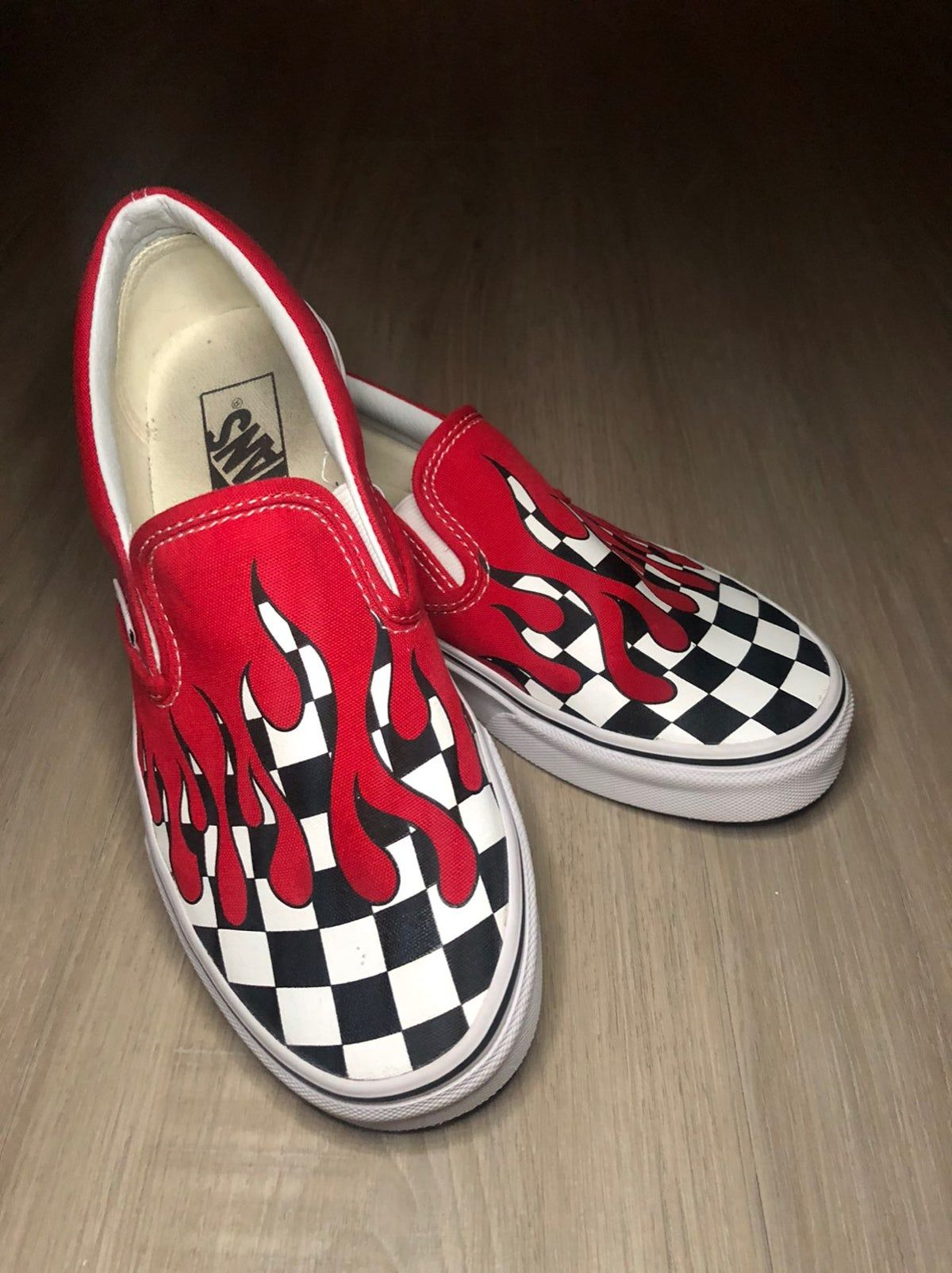 Red \u0026 Black Checkered Drip Vans in 2020
