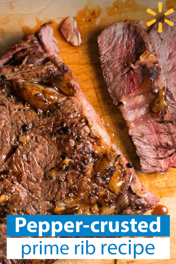 Find The Ingredients For This Pepper Crusted Prime Rib With Horseradish Sauce At Walmart Com Rib Recipes Prime Rib Recipe Cooking A Roast