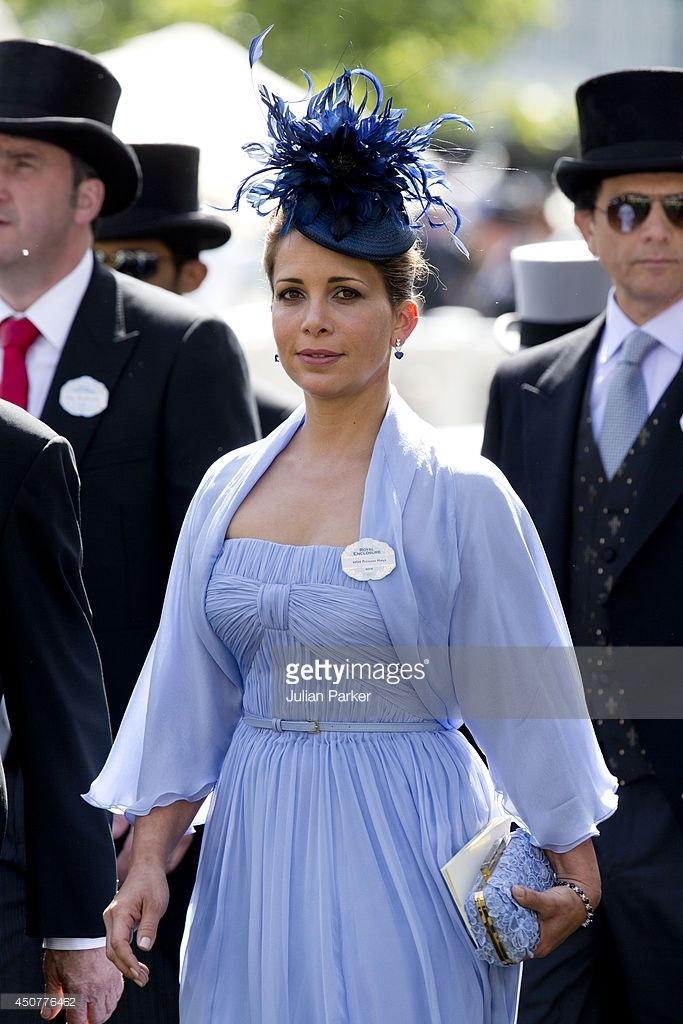 Princess Haya bint Al Hussein attends Day 1 of Royal Ascot at Ascot Racecourse on June 17, 2014 in Ascot, England. (Photo by Julian Parker/UK Press via Getty Images)