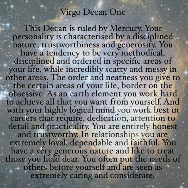 decan horoscope virgoe