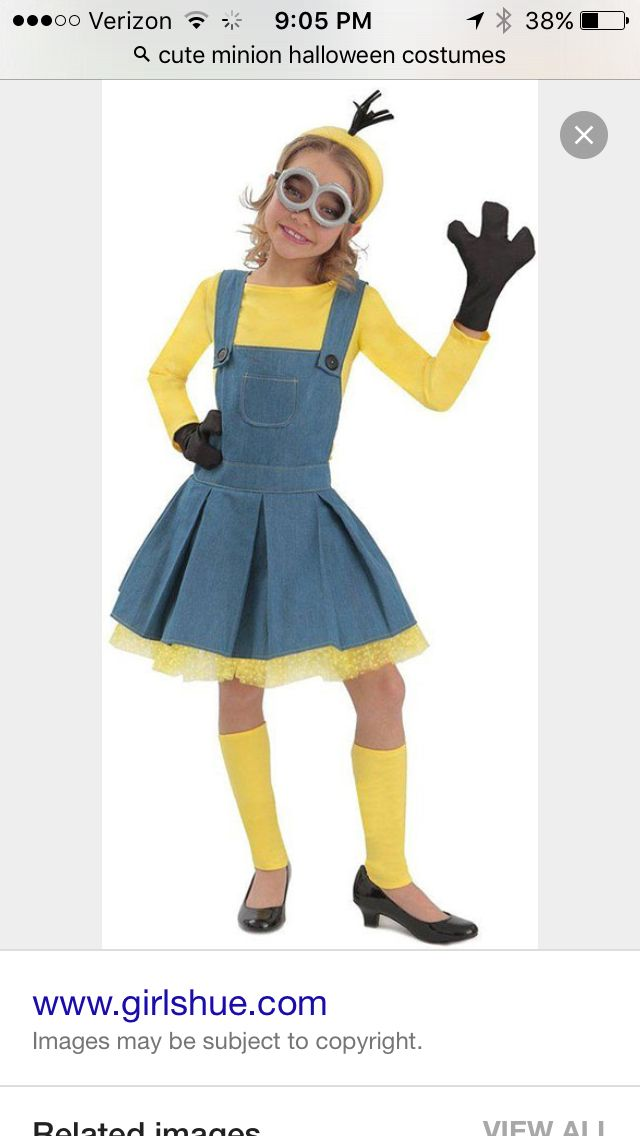 Minion Halloween Costumes For Girls.Cute Minion Halloween Costume Cute Halloween Costumes Girls