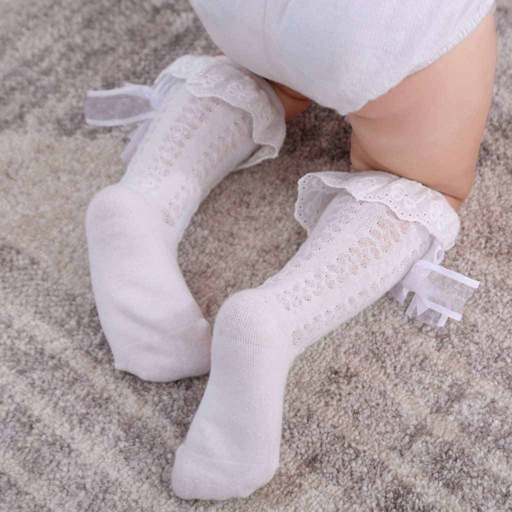 TODDLER INFANT BABY GIRLS BOYS ABOVE KNEE SUMMER SOCKS WARMER STOCKINGS STUNNING