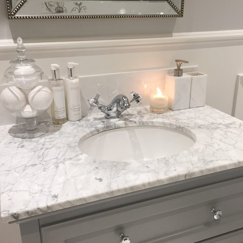 22- Bathroom - Evening Sink and Candle   Simple bathroom ...