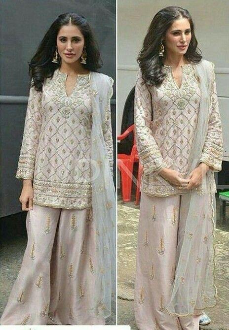 Nargis Fakhri Wearing Payal Singhal Wedding Guest OutfitsBridal