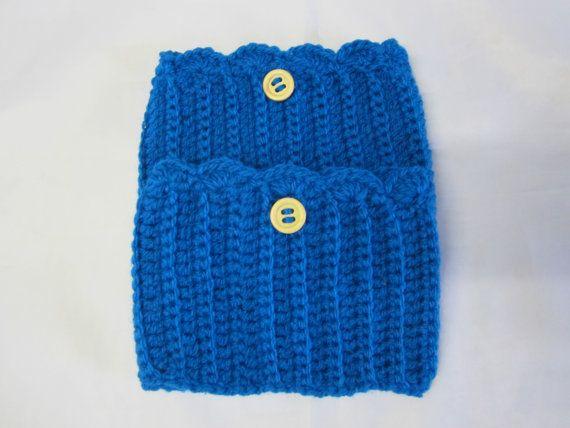 Ribbed Boot Cuff Leg Warmers Womens Cochet Small  XL by AlfieJayne, €12.00