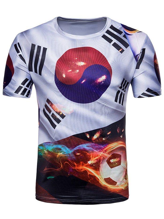 c2c0e921ec1 Pizoff 2018 FIFA World Cup Hipster 3D Print T-Shirt BA0043-24