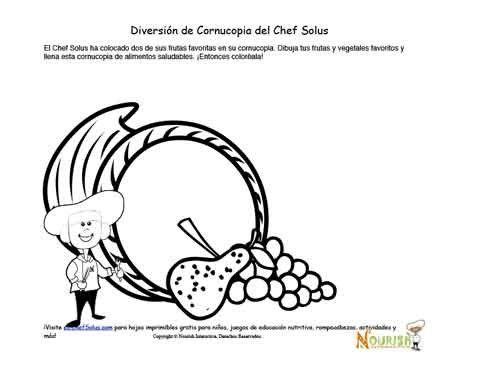 Páginas de actividades de nutrición y para colorear con el tema del ...