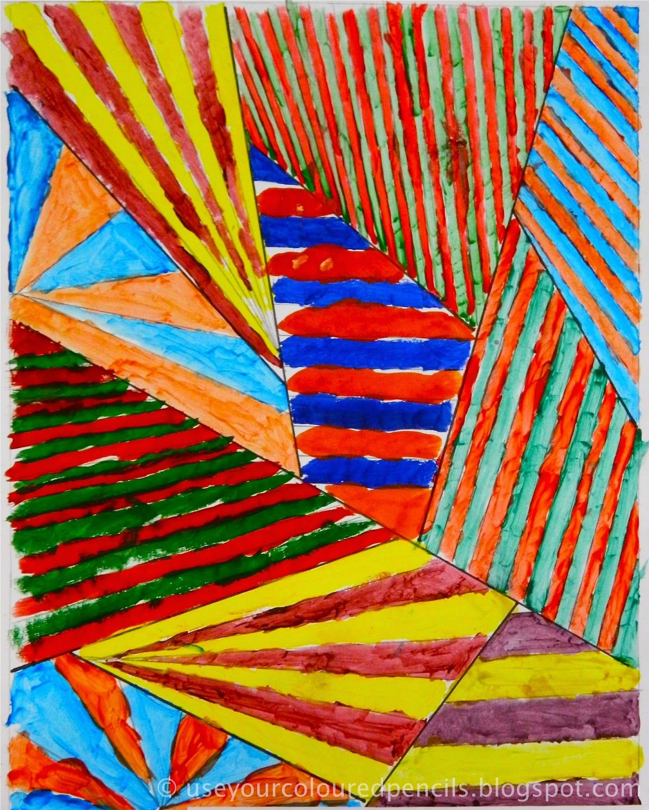 Use Your Coloured Pencils Abstracts In Complementary