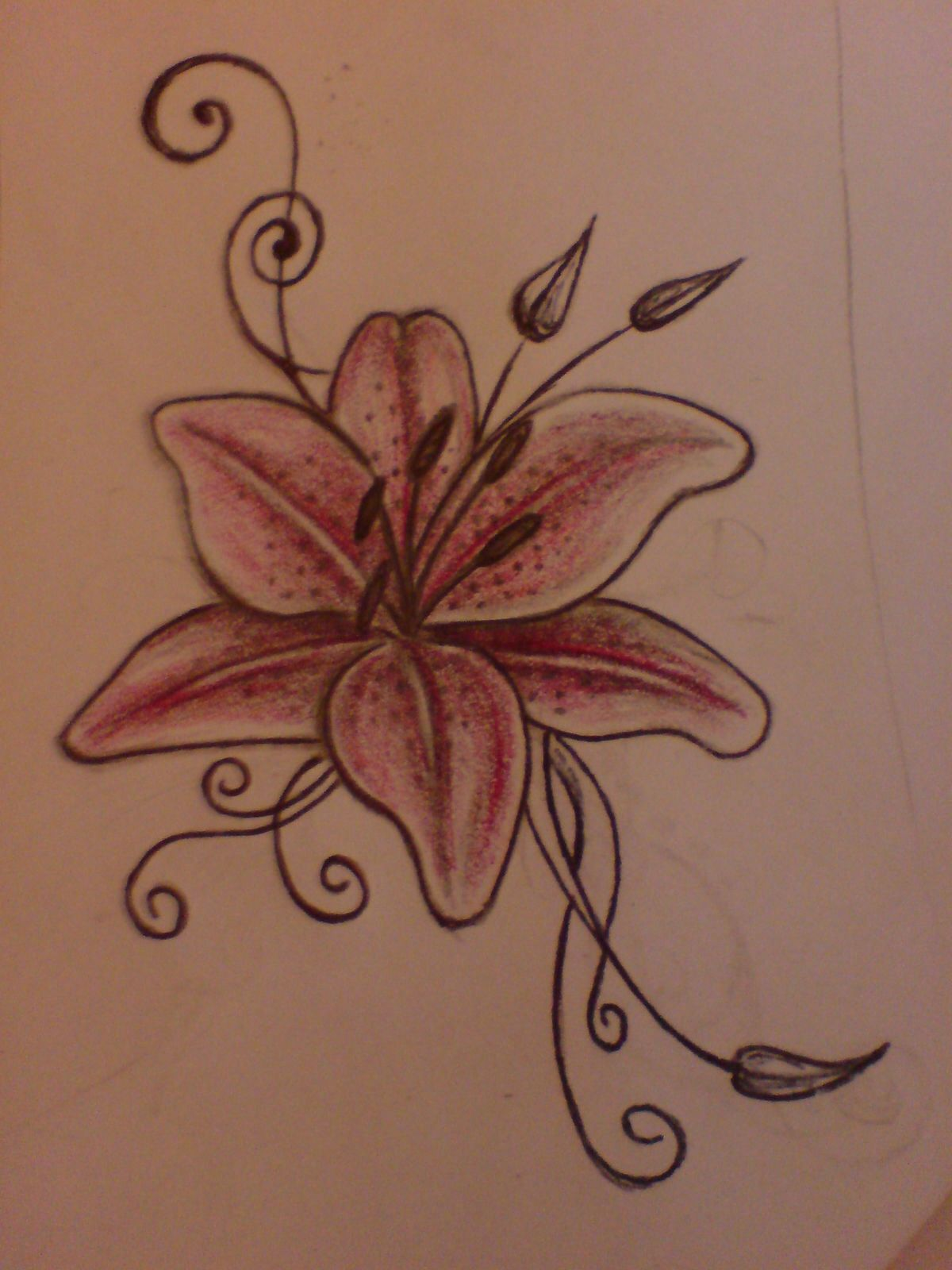 I have this on my inner left wrist I love it It s for my granny Lily