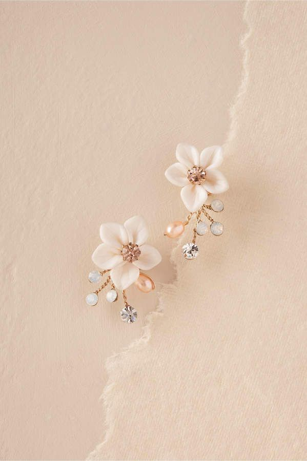 6212ebe8a5 Justin & Taylor Windflower Earrings Gold Jewellery, Wedding Jewelry,  Jewelery, Jewelry Necklaces,