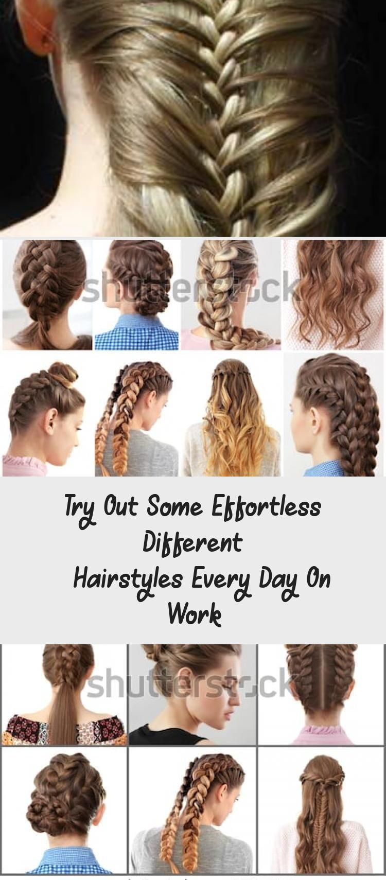 Try Out Some Effortless Different Hairstyles Every Day On Work 7 Easy Everyday Hairstyles For Each In 2020 Hair Styles Different Hairstyles Easy Everyday Hairstyles