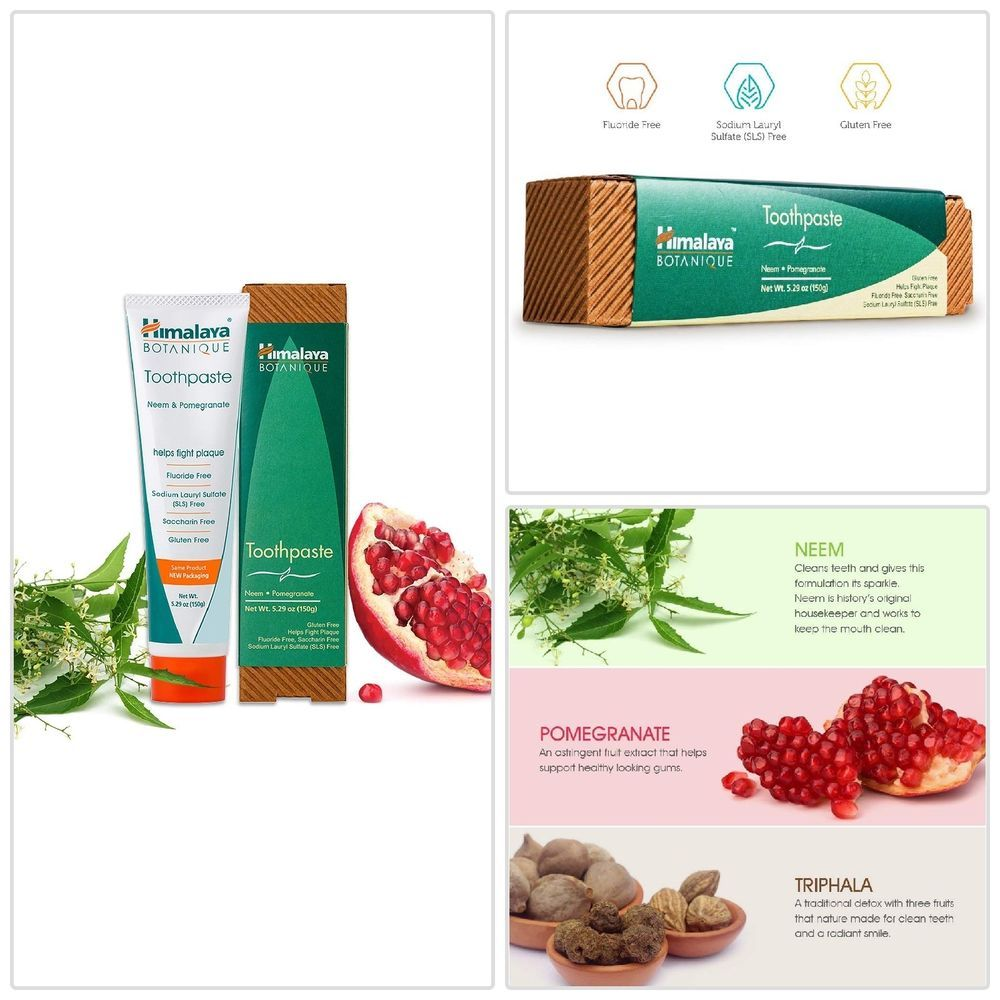Himalaya Neem And Pomegranate Fluoride Free Natural