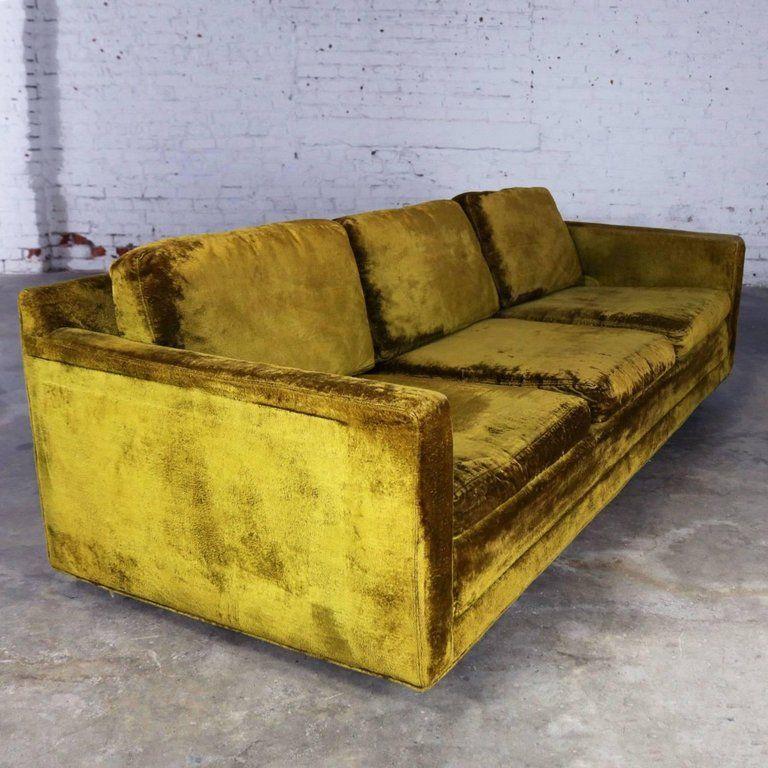 Lawson Style Three Cushion Sofa Vintage