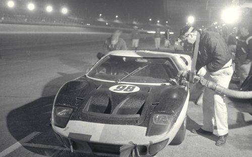 The Race Winning Ford Gt40 Driven By Ken Miles And Lloyd Ruby In