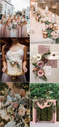 dusty rose and sage green wedding color ideas  dusty rose and sage green wedding color ideas