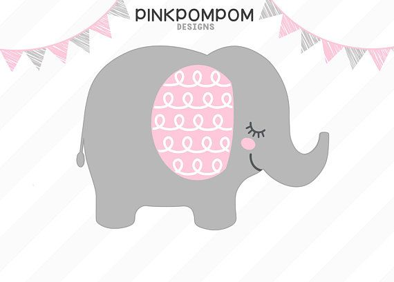 G Baby Girl Elephant Svg Clipart
