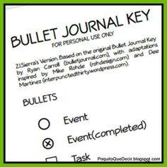 image regarding Bullet Journal Key Printable titled Bullet Magazine] Printable! Z.I.Sierras Bullet Magazine Main