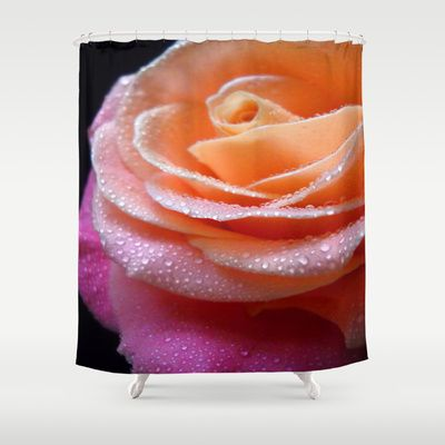 Rose+Macro.+On+Front+Page.+Shower+Curtain+by+Vitta+-+$68.00
