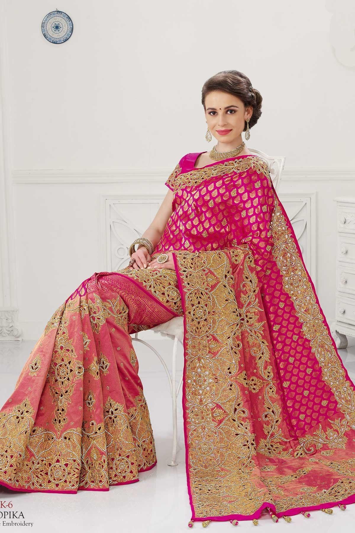 0f54838b54c4c8 Pink pure silk zari weaved marvellous saree with gold border -SR10387 #pink  #silk #zari #sarees #weaved #designer #ethnic #gold #border #pallu  #beautiful ...