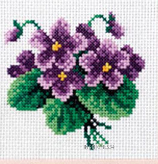 Orchidea Printed Cross Stitch Kit Poppies