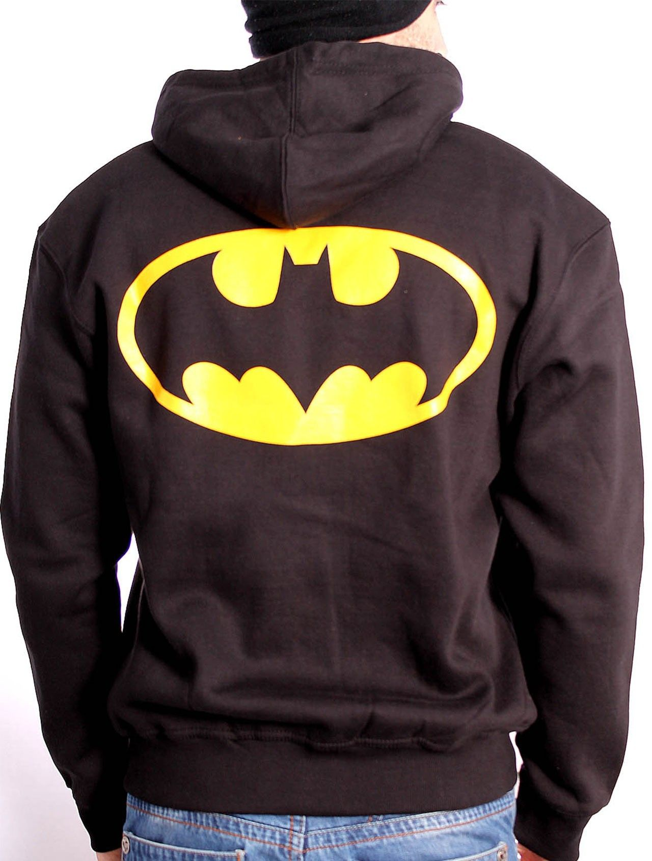 Sweat à capuche Batman noir logo dos XXL Boutique