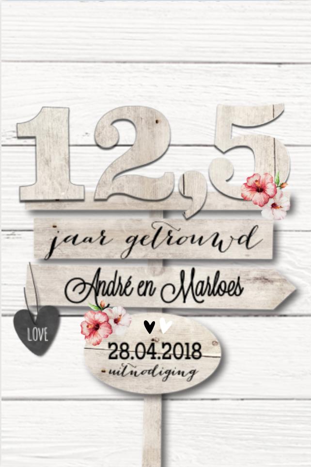 Lovz romantisch uitnodiging huwelijksjubileum