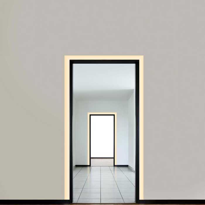 Garage Door Recessed Lights: Verge Door Frame Plaster-In LED System 2.5W 24VDC By Pure