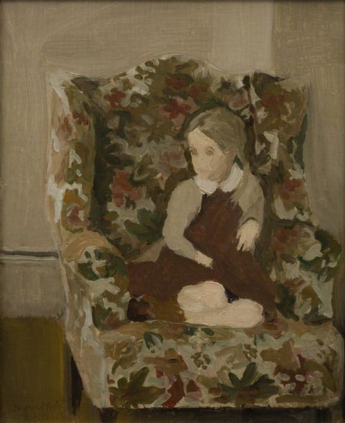 Portrait of Katherine (the artist's daughter)  -  Fairfield Porter  1952  American  1907-1975