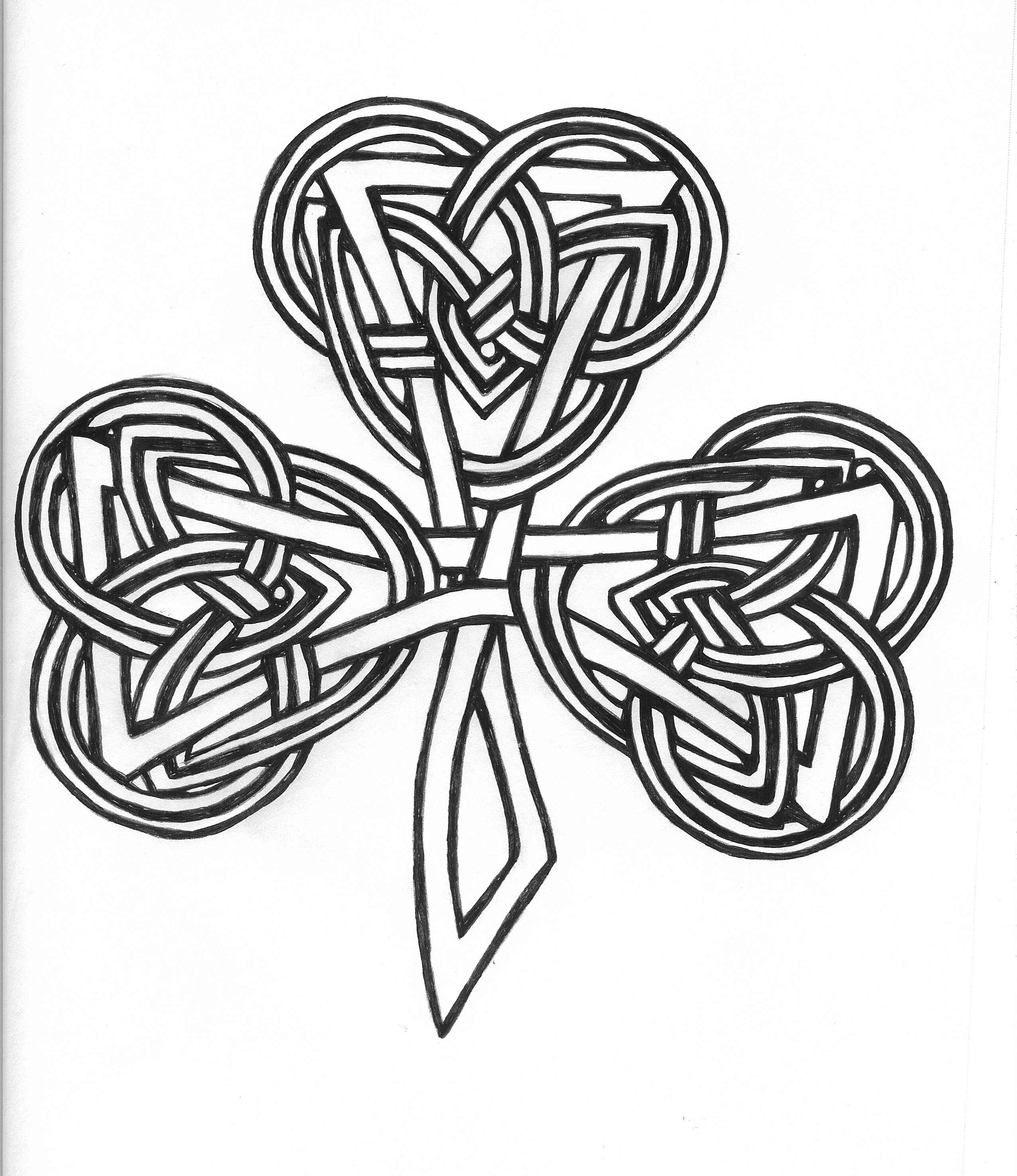 Coloring book pages shamrock - Celtic Knot Shamrock I Will Have This Tattoo On My Foot This Year