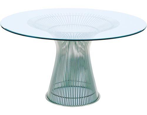 Platner nickel dining table Tables Pinterest