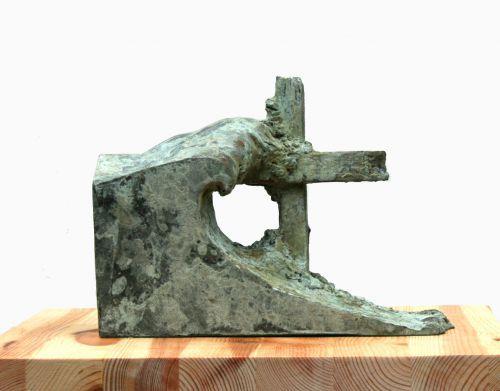 Cold cast copper or aluminium Cloud, Breeze, Wave & Wind #sculpture by #sculptor Mitchell House titled: 'Wave and Breaker (Bronze representational Sculpture)' £350 #art