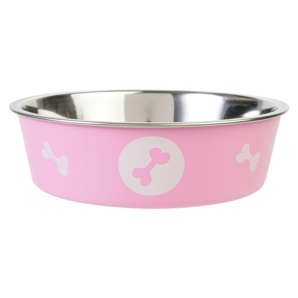 Top paw bella dog bowl size 175 pt pink dog bowls