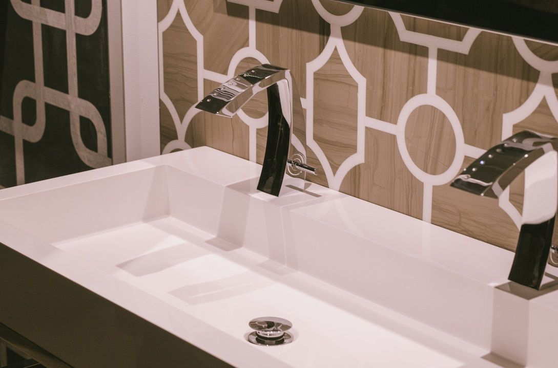 Aquabrass Etna lavatory faucets with crystals, featured here in our ...