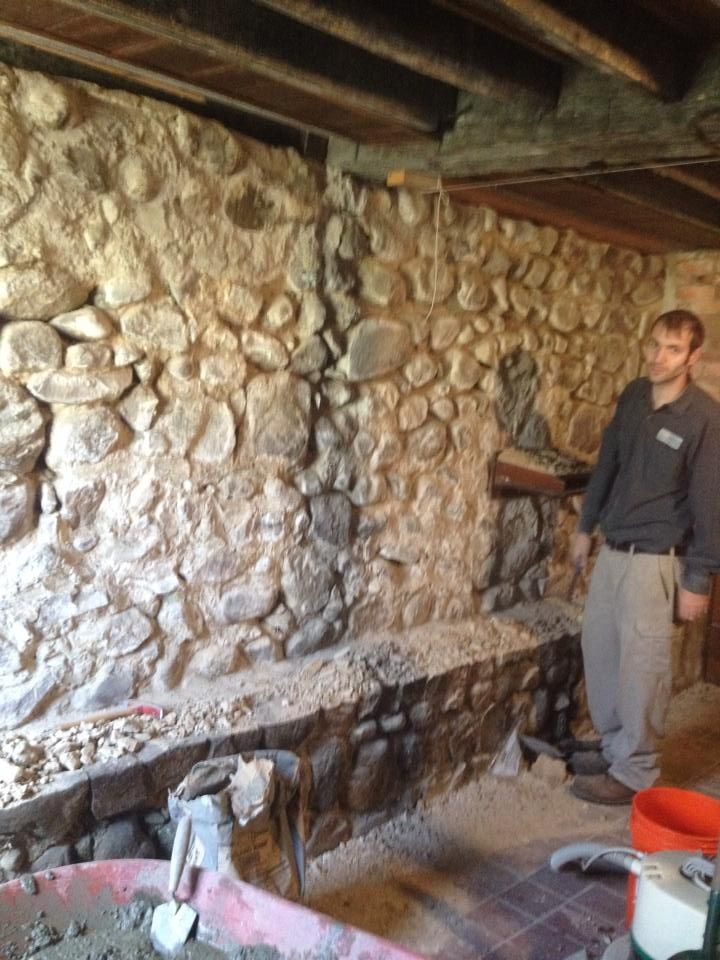Stone Basment Wall Repair Wet, How To Fix A Stone Basement Wall