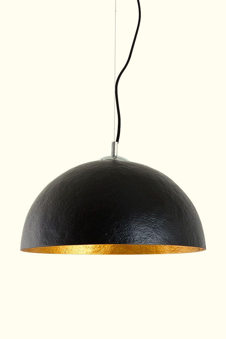 Pendelleuchte Mercurio Schwarz Gold Design Leuchten Lampe Schwarz Gold Lampen
