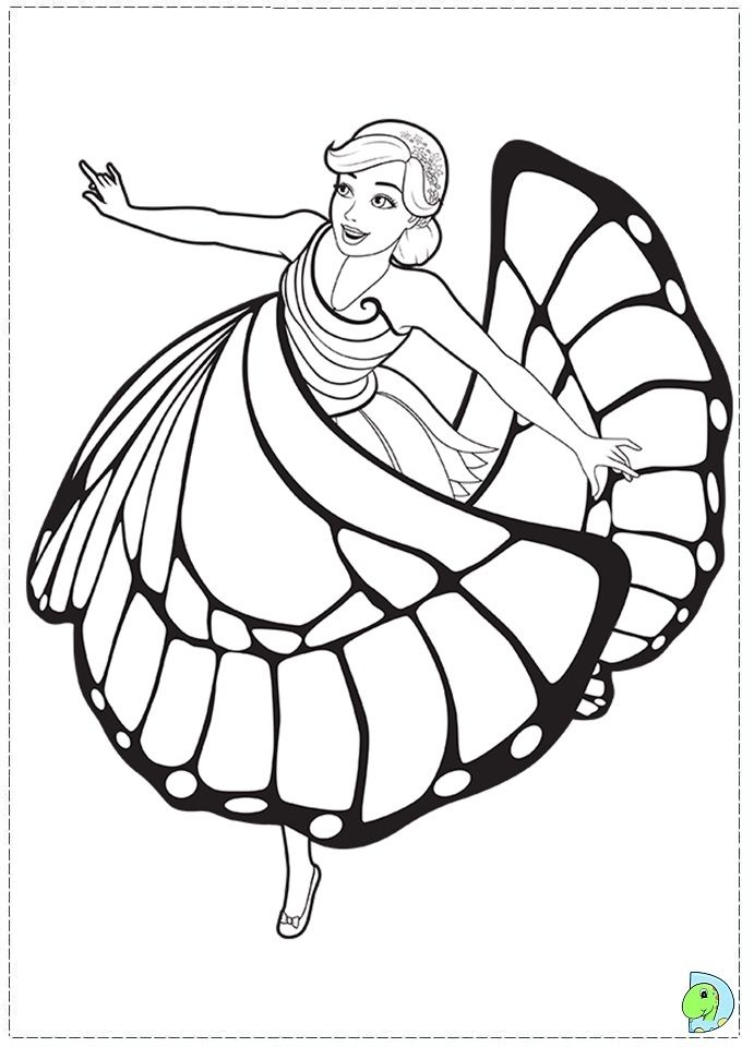 barbie mariposa coloring pages  Googlesgning  Barbie Coloring