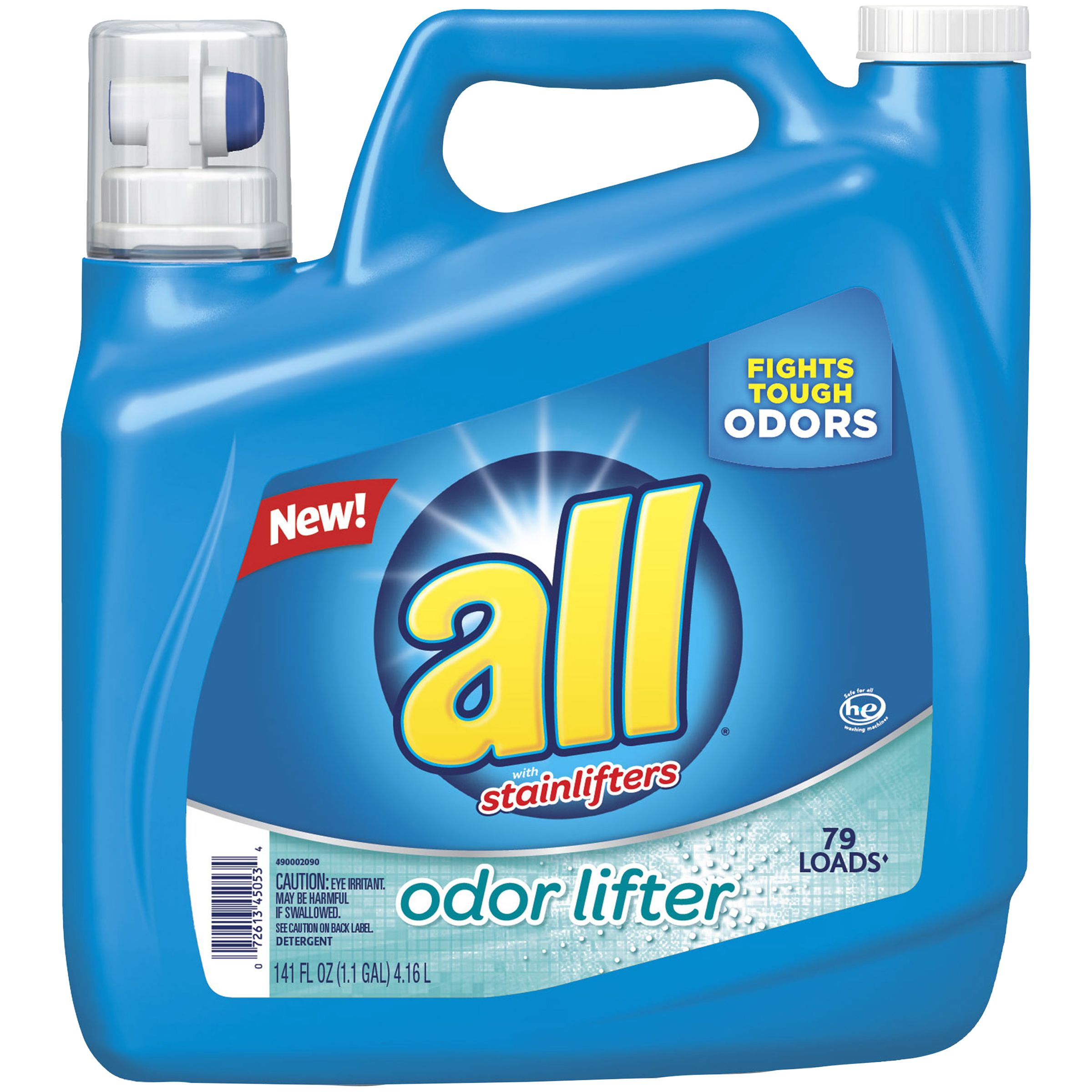 All Liquid Laundry Detergent Odor Lifter 141 Ounce 79 Loads