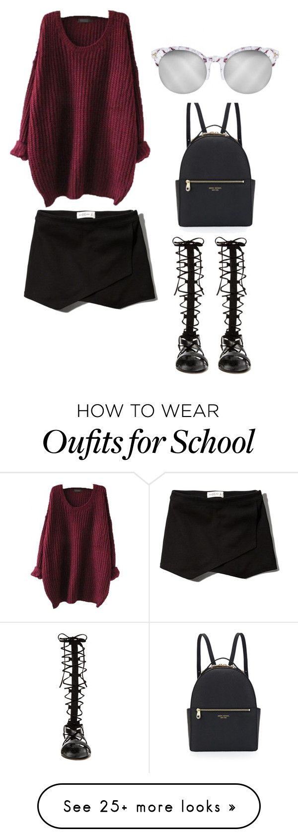 """Fall School Outfit"" by cocochanel-mademoiselle on Polyvore featuring Abercrombie & Fitch, Raye and Henri Bendel"