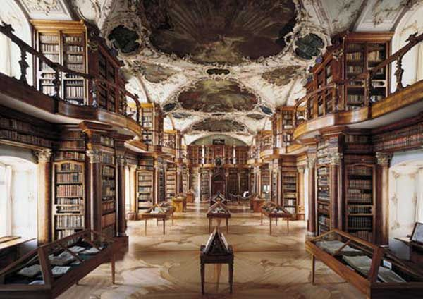 Abbey Library of St. Gallen, Switzerland -When you think of dying and going to library heaven, this is what it looks like. The Abbey of St. Gallen is such a wonder that it was named a UNESCO World Heritage Site.  While the books and manuscripts are part of one of the oldest collections in Switzerland, it's really the calming, beauty of the place that makes it wonderful. - Samantha Brown.