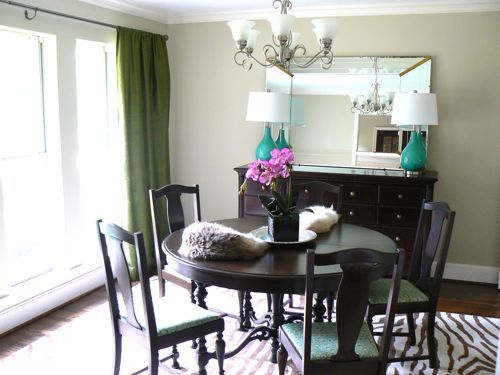 Our Turquoise & Zebra Dining Room Before The Table And Chairs Amusing Zebra Dining Room Chairs Design Decoration