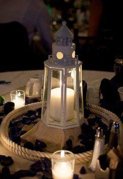 Attractive Cream Nautical Lighthouse Centerpiece