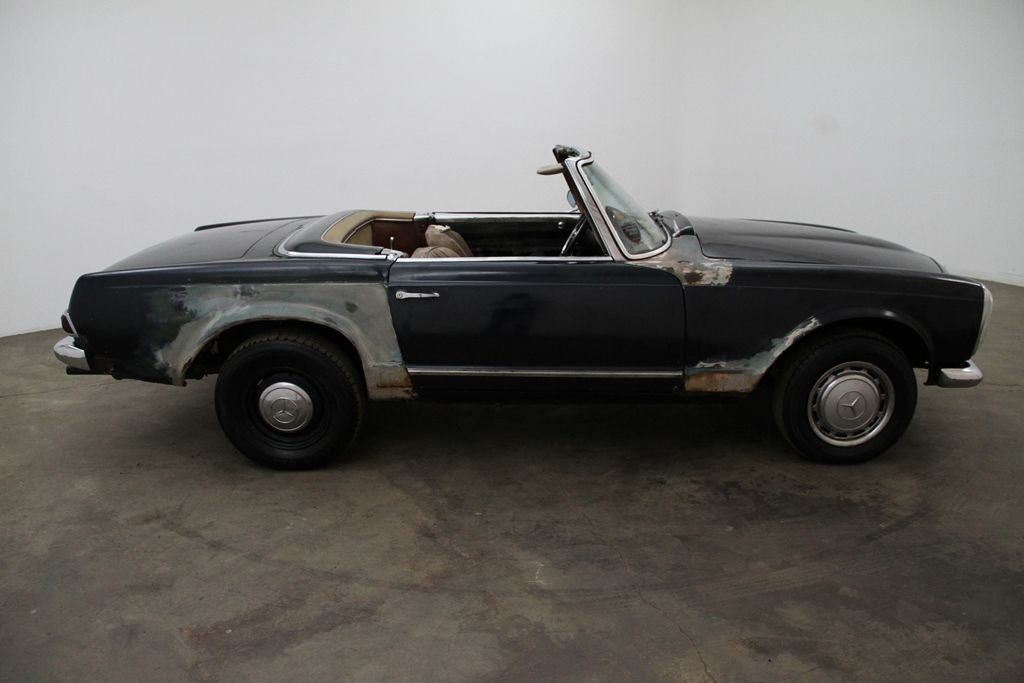 1964 Mercedes Benz 230SL, 2 tops, blue with brown interior